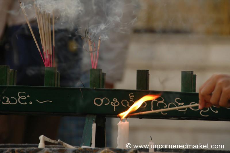 Incense - Rangoon, Burma (Yangon, Myanmar)