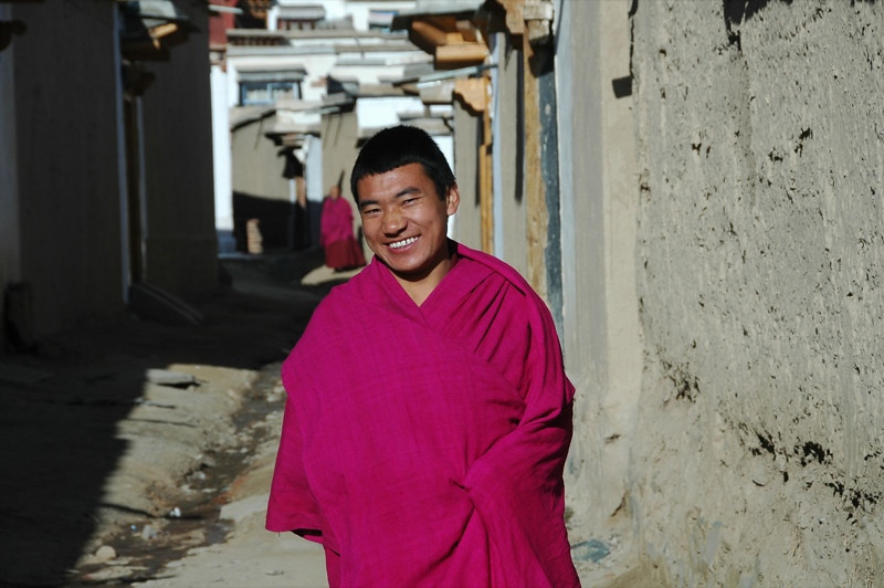 Friendly Monk - Xiahe, China