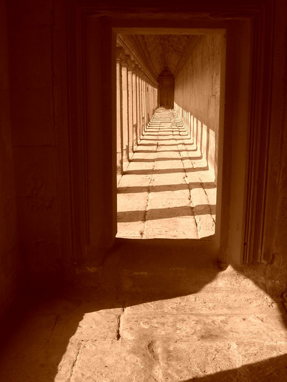 Arcades with Shadows - Angkor, Cambodia