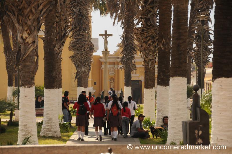 School Kids Going Home - Antigua, Guatemala