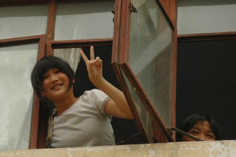 Chinese Woman, Peace Sign - Chengdu, China