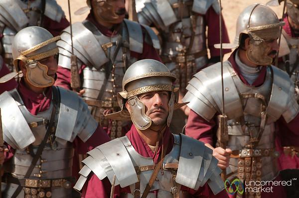 A Roman Legion in Modern Jerash, Jordan