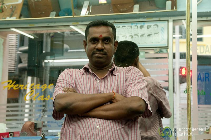 Friendly Indian Barber in Kuala Lumpur, India