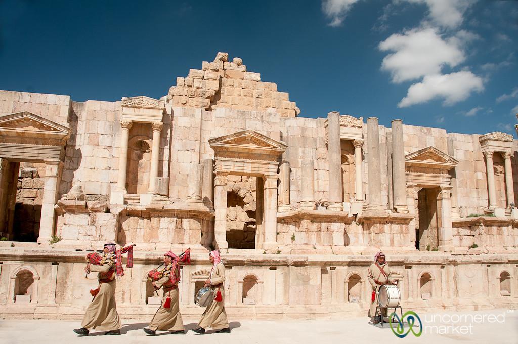 A Little Music in the Roman Theatre at Jerash, Jordan