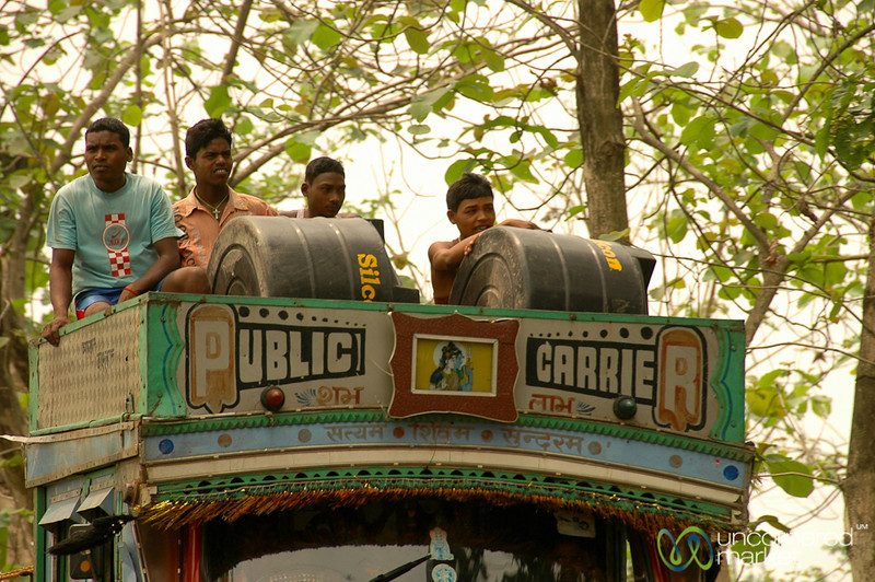 Riding On Top of the Truck - West Bengal, India