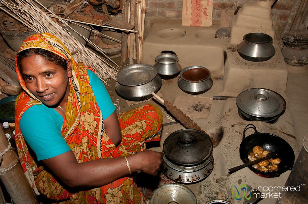 Bangladeshi Cooking in Traditional Kitchen - Hatiandha, Bangladesh