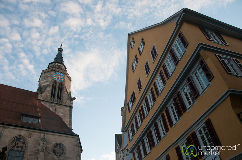 Tübingen Clocktower and Architecture - Baden-Württemberg, Germany