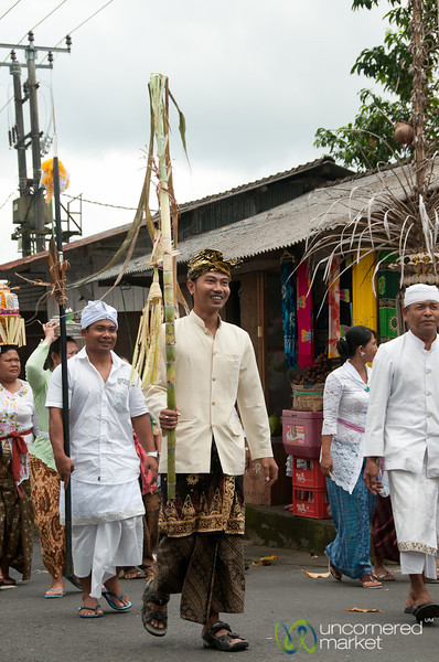 Leading the Funeral Procession - Bali, Indonesia
