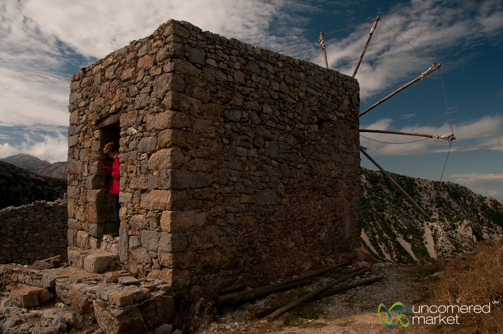 Windmill Near Lassithi Plateau - Crete, Greece
