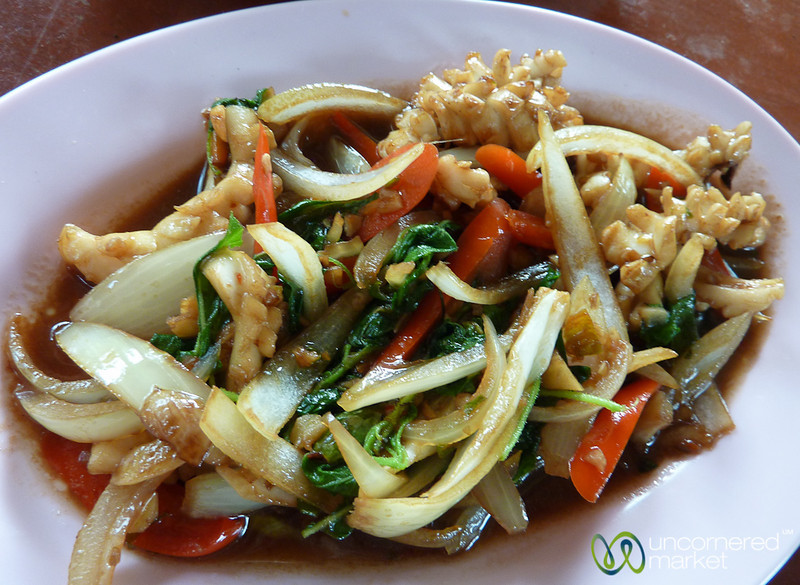 Awesome Squid Basil Stir-Fry - Koh Pha Ngan, Thailand