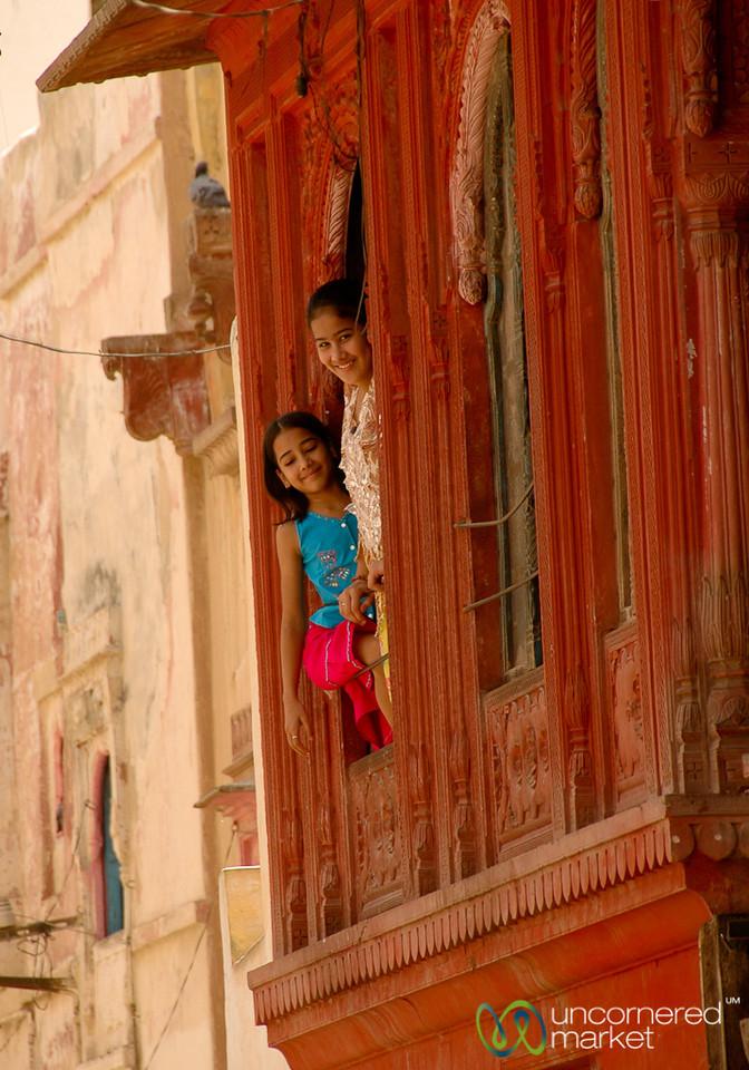 Kids in the Window - Bikaner, India