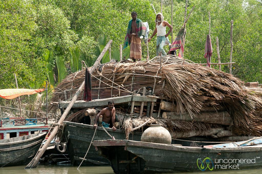 Boat with Wood - Sundarbans, Bangladesh