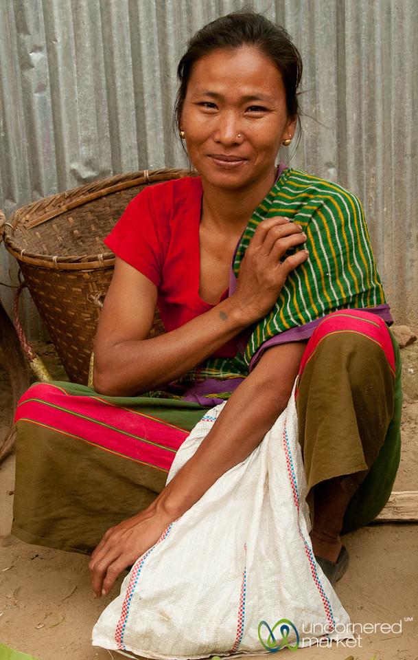 Indigenous Woman at Market in Bandarban, Bangladesh