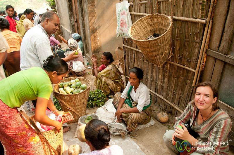 Audrey Takes a Rest at Market - Bandarban, Bangladesh