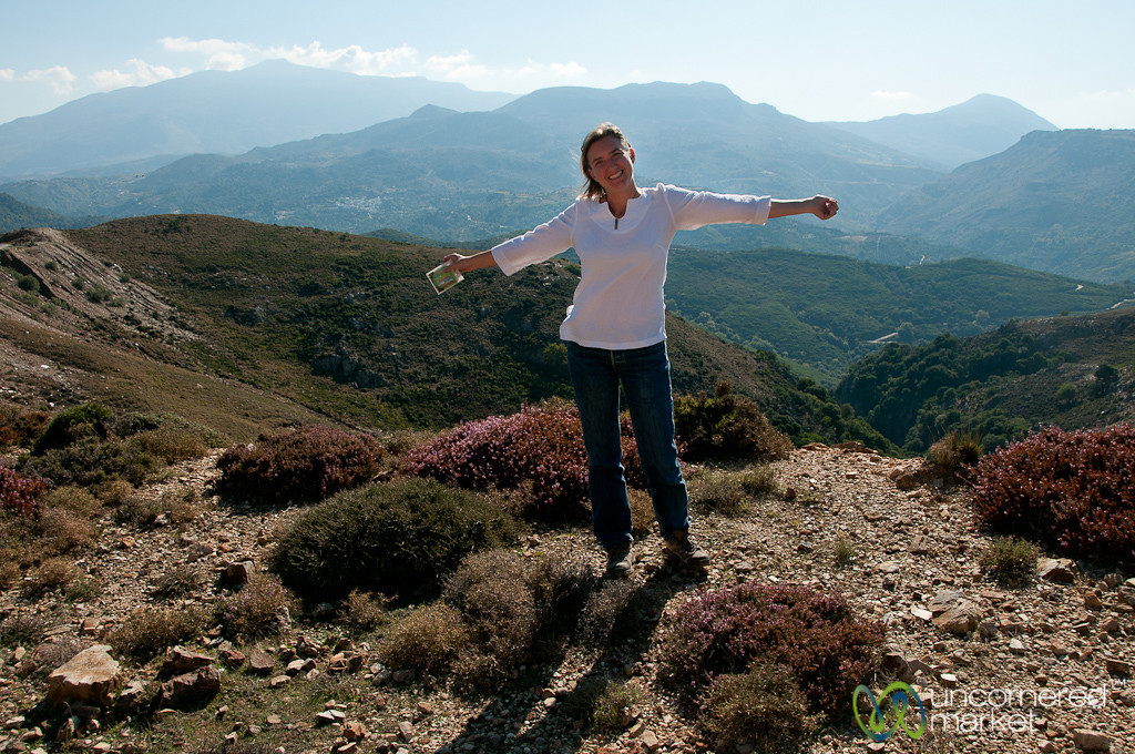 Audrey in the Hills of Crete