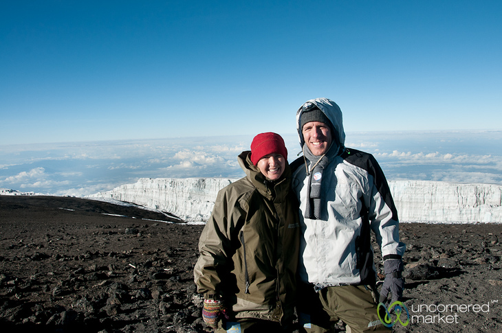 Dan & Audrey at Uhuru Peak - Mt. Kilimanjaro, Tanzania