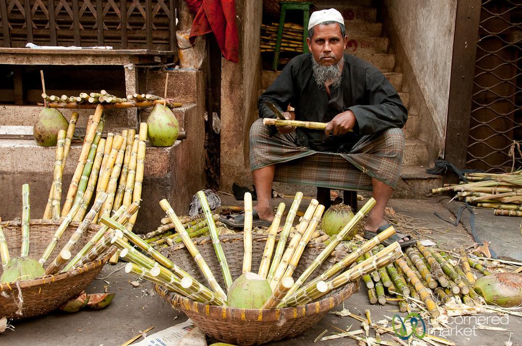 Sugar Cane and Coconut Vendor - Old Dhaka, Bangladesh