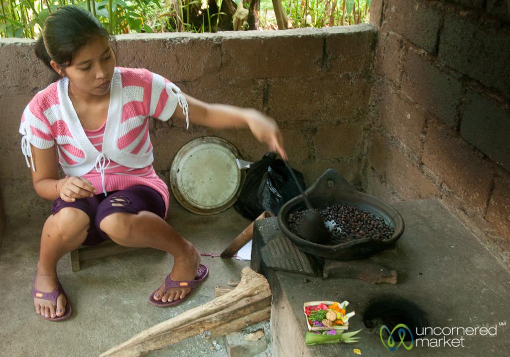 Roasting Coffee Beans - Bali, Indonesia