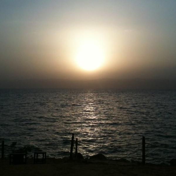 Sunset over the Dead Sea on Jordan #JO #dna2jordan