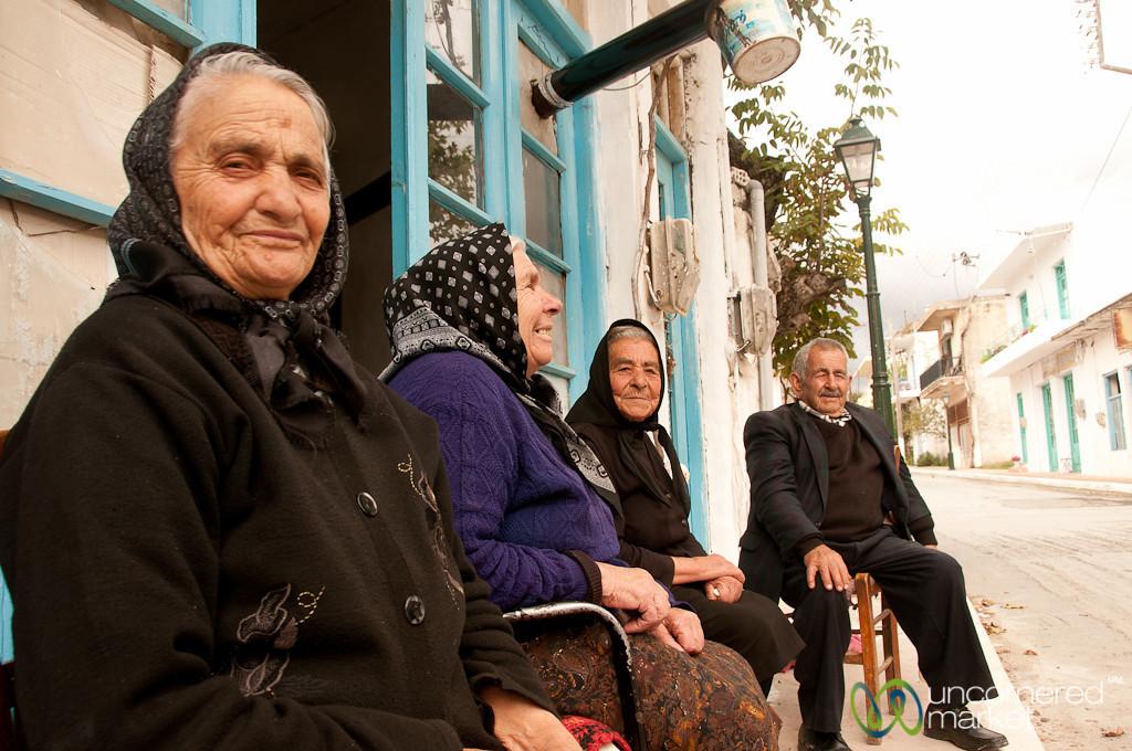 Crete People Chatting Away