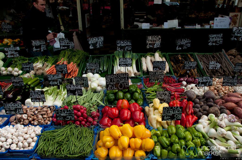 Bright Peppers and Fresh Veggies - Vienna, Austria