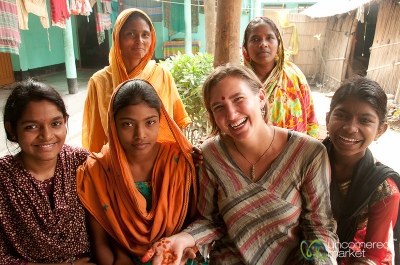 Audrey with Women of Family - Hatiandha, Bangladesh