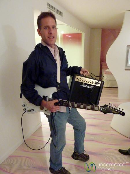 Electric Guitar in Hotel Room - nhow hotel in Berlin