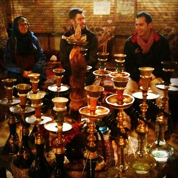 Water pipes and tea at Golustan Palace in Tehran. #dna2iran #WIR #gadv