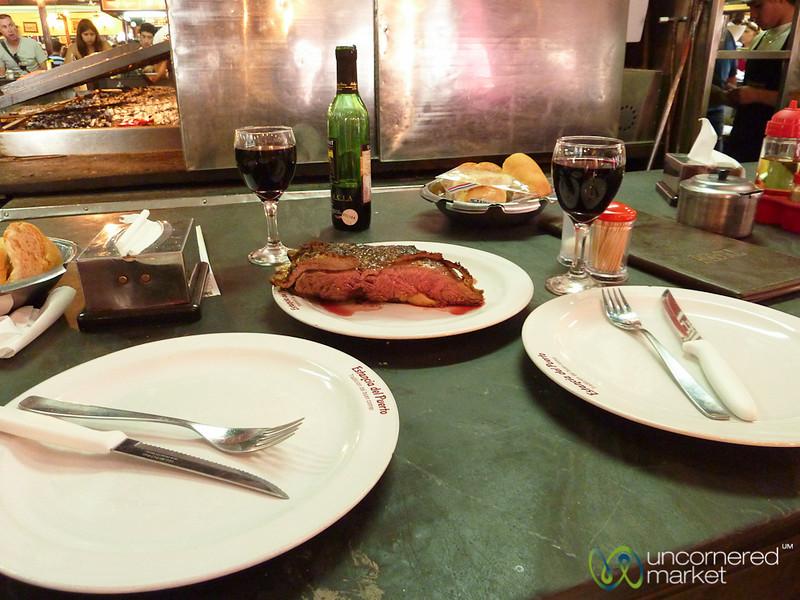 Streak Lunch at Mercado del Puerto - Montevideo, Uruguay