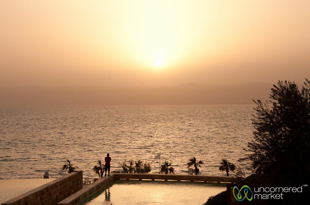 Sun Sets over the Dead Sea, Jordan