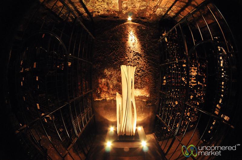 A Fisheye View of Juanico Winery's Cellar - Uruguay