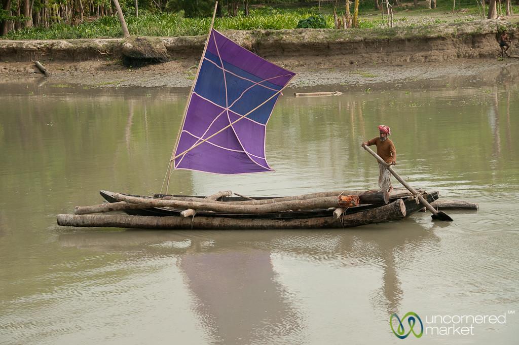 Carrying Logs Down the River - Bangladesh