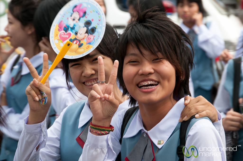 Universality of the Peace Sign - Bangkok, Thailand