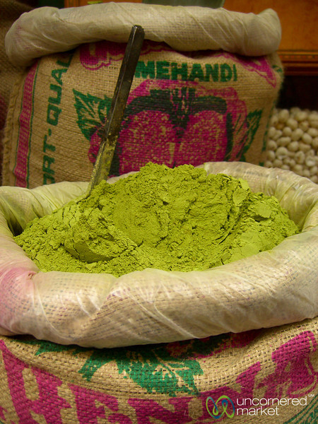 Henna Powder at the Market - Udaipur, India