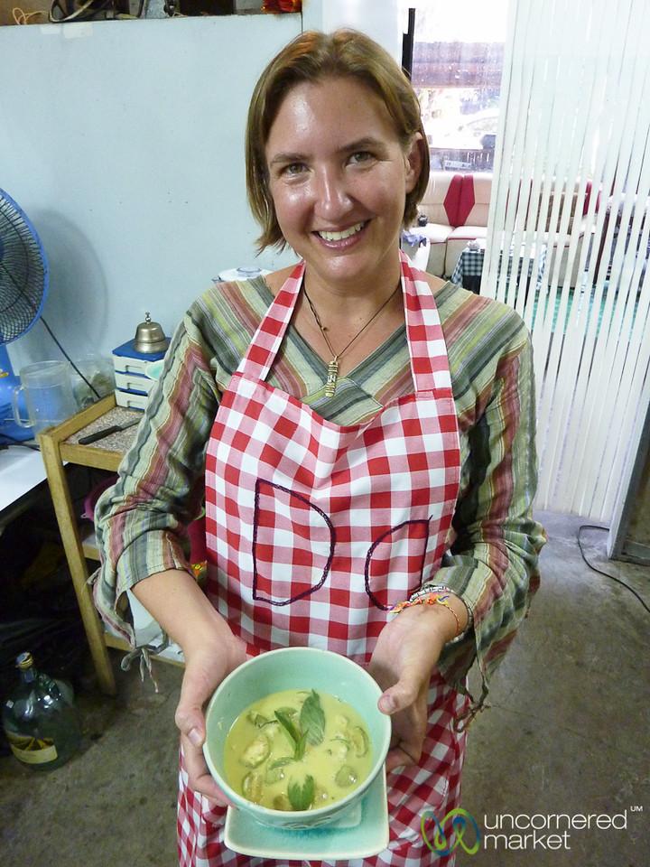 Showing Off Thai Green Curry - Koh Samui, Thailand