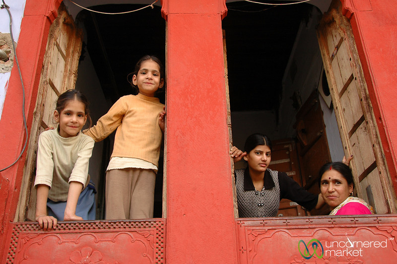 Bikaner Family in the Window - Rajasthan, India