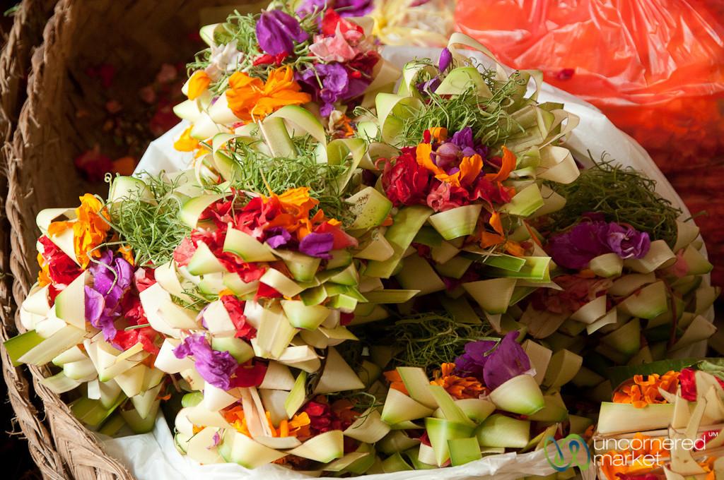 Flower-rich Offerings - Ubud, Bali