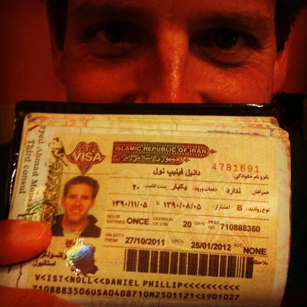 Iranian visa in hand. #thankgoodness  #dna2iran