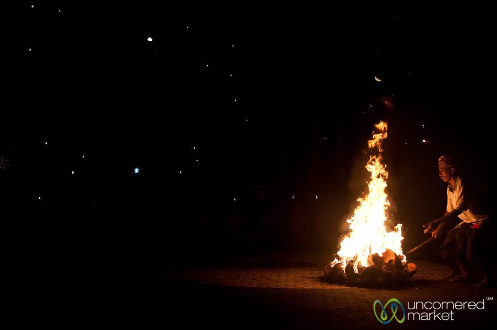 Setting Fire to Coconuts - Ubud, Bali