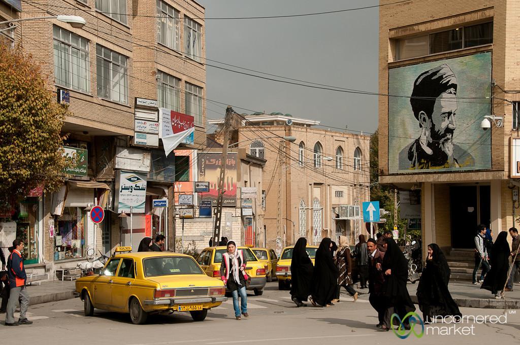 Street Scene in Hamadan, Iran