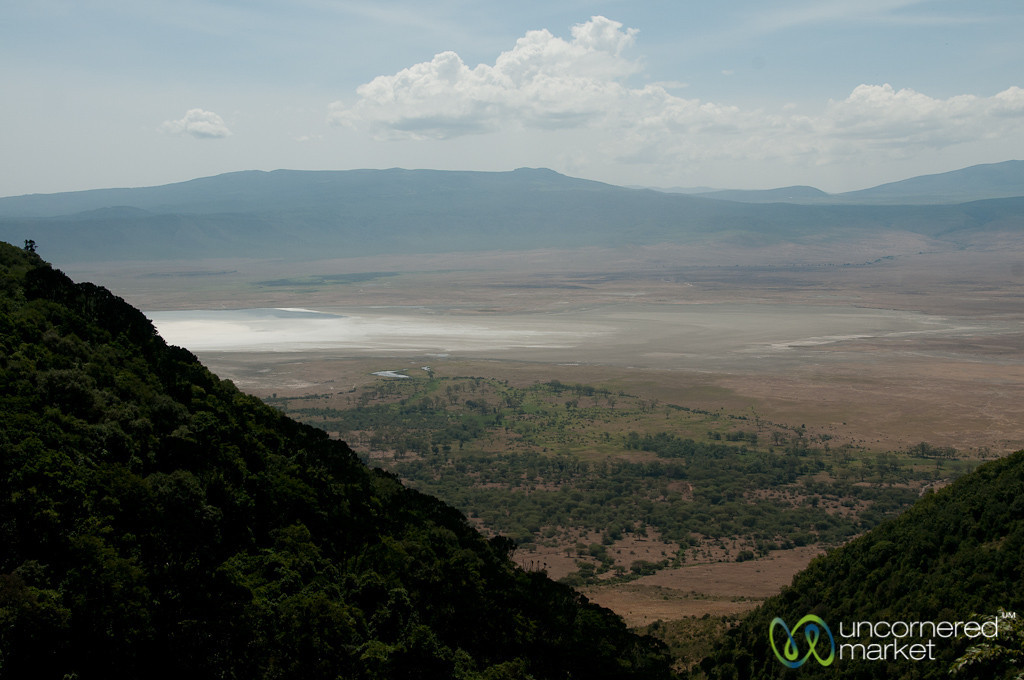 Looking Down into Ngorongoro Crater - Tanzania