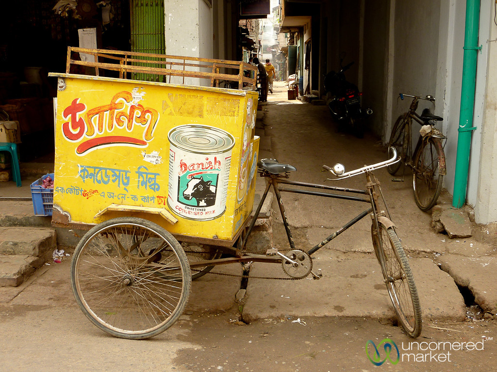 Bicycle Cart of Condensed Milk - Bandarban, Bangladesh