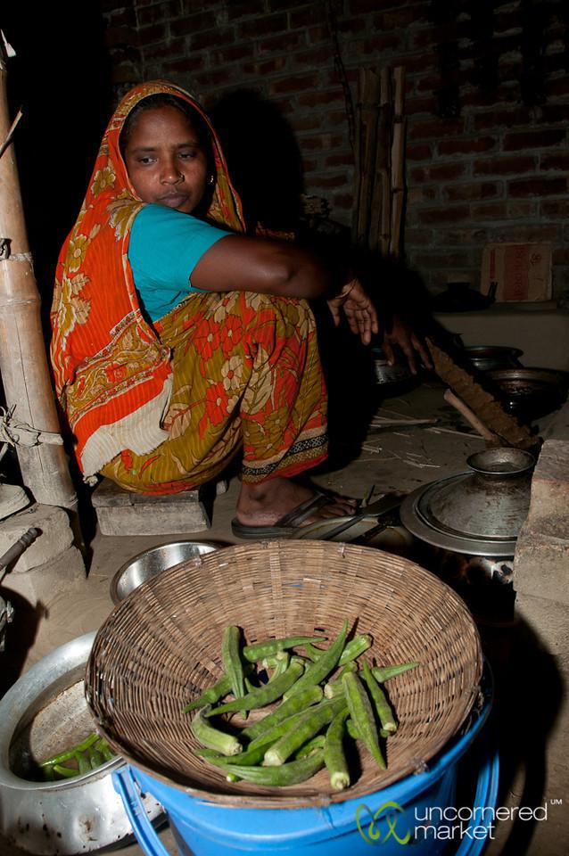 Cooking Dinner with Okra - Hatiandha, Bangladesh