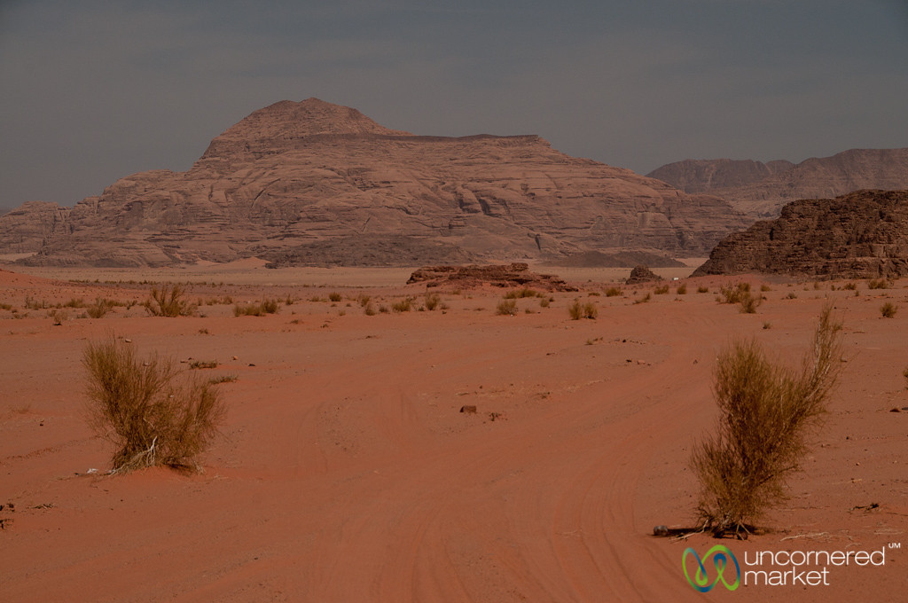 Beginning Journey into Wadi Rum, Jordan