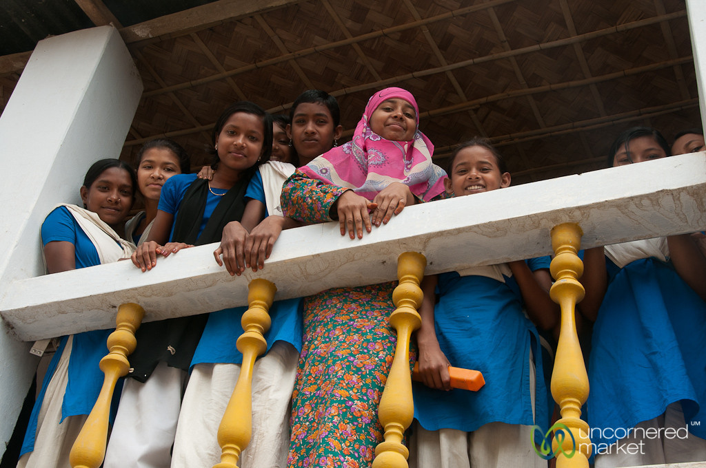Girl Students at Village School - Hatiandha, Bangladesh