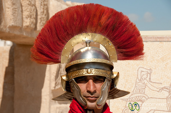 All Decked Out as a Roman Soldier - Jerash, Jordan