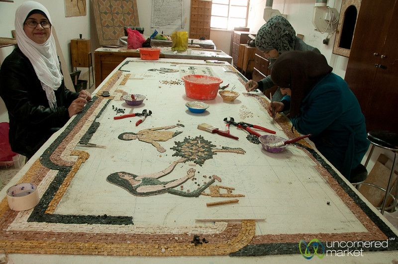 Learning the Ancient Tradition of Mosaics - Madaba, Jordan