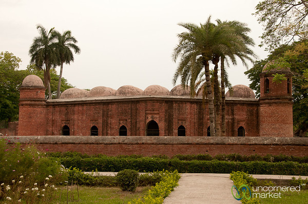 Shait Gumbad Mosque in Bagerhat, Bangladesh