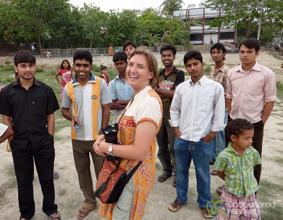 Audrey with a Crowd of People - Rajshahi, Bangladesh