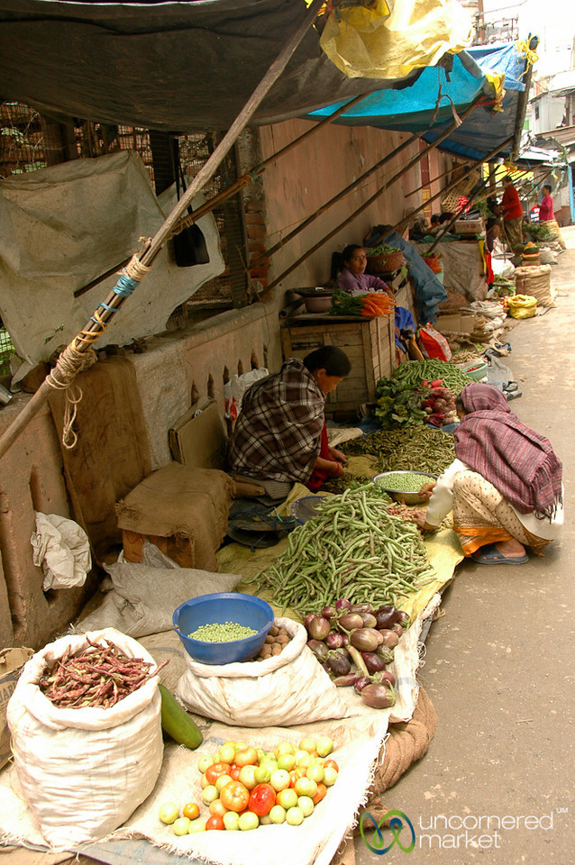 Small Vegetable Vendors at the Market in Darjeeling, India